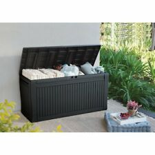 Storage Deck Box Outdoor Container Bin Chest Patio Keter 71 Gallon Bench Brown