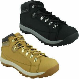 GR387 MENS GROUND WORK LACE UP WORK BOOTS STEEL TOE CAP LEATHER SAFETY SHOES