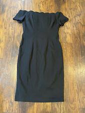 Bettie Page Tatyana SZ 14/16  black midi dress off shoulder bodycon sheath 3XL
