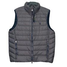 Polo Ralph Lauren Water-Repellent Packable Puffer Down Vest MENS M Grey $188 NEW