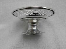 WALKER & HALL SOLID SILVER MINIATURE PIERCED RIM TAZZA ~ SHEFFIELD 1923 ~ 59g