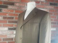 Hickey Freeman Recent Brown Silk Blend 2 Button Sport Coat  Jacket Mens 44R