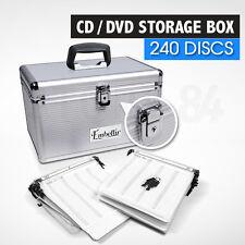 CD / DVD Storage Box Lockable Aluminium Case - 240 Discs
