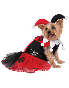 Dc Superheroes Harley Quinn Pet Dog Cat Tutu Villain Costume