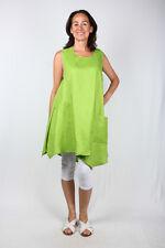 CHAMPAGNE ligne Sommerliches, zipfeliges Shirt in kiwigrün | Reines Leinen!