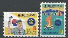 Corée du Sud 1971 667 + 1972 726 ** Scoutisme Feu de camp Pfadfinder