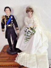 "Danbury Mint Vintage Groom Prince Charles and Bride Princess Diana Porcelain 20"""