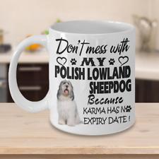 Polish Lowland Sheepdog dog,Valee Sheepdogs,Pon,Polski Owczarek Nizinny,Cup,Mug