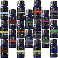 Paquete De Aceites Esenciales Aromaterapia 100% Natural Orgánico Radha Beauty