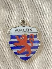ARLON Silver Plate Travel Shield Enamel Charm