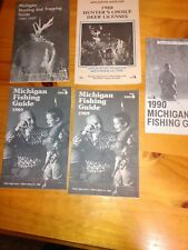 Lot of 5 Vintage Michigan Dnr Fishing/Hunting Rule Guides 88,89,90
