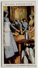 Wwi Tribute To Women Workers In Britain c100 Y/O Trade Ad Card
