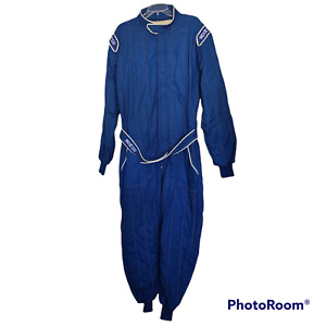 Sparco Racing Driving Fire Suit R506 Size 60 XL Blue SFI Certified 3-2A/5