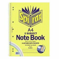 Spirax No. 596C A4 5 Subject Sprial Notebook 8 Lecture Note Book 250 pages