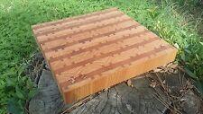 Beautiful Custom Hand Made Reclaimed Cherry Wood END GRAIN CUTTING BOARD