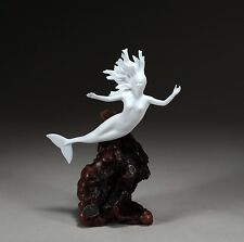 MERMAID LADY Sculpture New Direct from JOHN PERRY 9in high Figurine Swimming