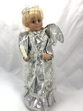 """17.5"""" Animated Lighted Angel Head & Arms Move Plays Music Working Condition"""