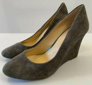 Banana Republic Womens Size 10 High Heels Wedge Shoes Grey Ladies Girls