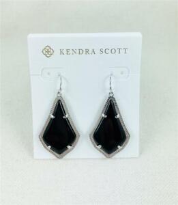 Kendra Scott Alex Black Silver Earrings