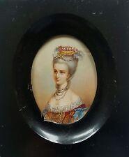 Miniatur mit dem Portrait einer adligen Dame des 18. Jahrhunderts, Gouache