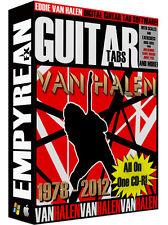 Eddie Van Halen Guitar Tabs CD-R Digital Lessons Software Windows Mac