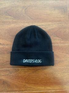 David's VLOG winter hat knit beanie one size Black - David Dobrik