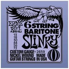 Ernie Ball 2839 6 String Baritone Slinky Electric Guitar Strings