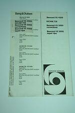 Bang & Olufsen Beocord VX 4500 / VX 5000 Ergänzung zum Service Manual