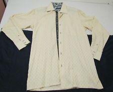 Luchiano Visconti Men's Button-up Long Sleeve Dress Shirt Size Medium Checkered