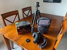 Nikon D3300 DSLR Camera Kit - Black (w/ AF-S DX VRII 18-55mm Lens) with tripod
