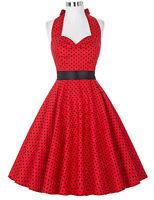 années 1950 60 vintage rétro pois SWING ROCK N ROLL JIVE soirée pin up robe