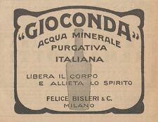 Z1578 GIOCONDA Acqua Minerale Italiana - Pubblicità d'epoca - 1926 Old advert