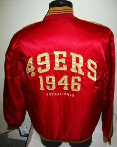 SAN FRANCISCO 49ERS Starter Throwback Snap Down Jacket RED/TAN 4X 5X
