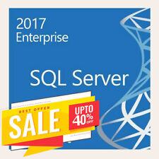 SQL Server 2017 Enterprise Product Key 🔑 License MS Unlimited CPU Cores, 40%OFF