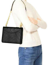 Tory Burch Women's ALEXA Combo Quilted Leather Crossbody Bag, Black, 8983-6