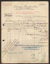 """EMMERICH-sur-RHIN 68: USINE d'ARTICLES MENAGER Vernis """"JOHANN BREITENSTEIN"""" 1908"""