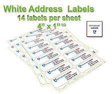 3500 1 13 X 4 Labels 14 Labels Per Sheet 5162 Template Laser Amp Inkjet