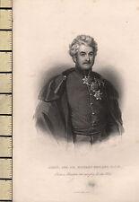 C1830 Georgian print ~ lieutenant général Sir Richard ENGLAND