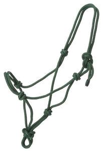 Hunter Green Miniature horse rope nylon halter sz Large Tough 1 #50-1000M-103