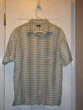 Men's Address Unknown Short Sleeve Casual Button Up Top; Very Nice! Size L