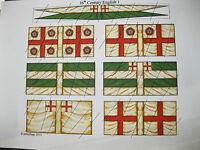 15mm  Renaissance Elizabethan Tudor 16th Century English paper flags (1)