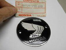 Honda NOS CA72, CA77, CB72, CB77, Right Fuel Tank Emblem, # 87121-230-010   a2