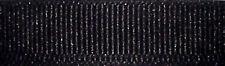 6mm Berisfords Black Grosgrain Ribbon 20m Reel