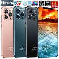 "i12 Pro max 7.2"" Face ID Smart phone Android 10 4+64GB 5600mah New 2021 GoodGift"