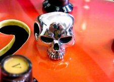 Large Solid Sterling Silver Skull Ring Keith Richards Style Handmade