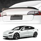 Tesla Model 3 Spoiler Wing Performance Rear Trunk Lip Tail Lid Carbon Fiber