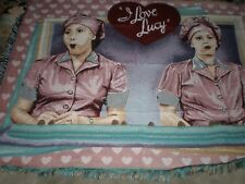 NEW VINTAGE THE NORTHWEST I LOVE LUCY TAPESTRY AFGHAN THROW BLANKET 48X62'