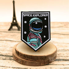 Space Explorer Astronaut Embroidery Sew On Iron On Patch Badge Fabric Costume