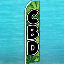 Cbd Flutter Flag Tall Curved Swooper Feather Advertising Banner Sign