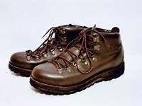 Cabela's Gore-Tex Brown Leather Hiking Outdoor Lace Up Vibram Boots Mens 9.5D